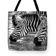 Thirsty Zebras Tote Bag