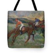 Three Jockeys Tote Bag