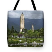 Three Pagodas Of Dali Tote Bag