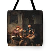 Three Peasants At An Inn Tote Bag