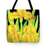 Three Yellow Irises, Painting Tote Bag