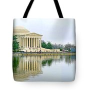 Tidal Basin With Cherry Blossoms Tote Bag