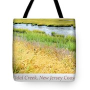 Tidal Creek Mud Flat At Low Tide Tote Bag