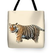 Tiger In The Long Grass Tote Bag