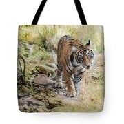 Tiger In The Woods Tote Bag