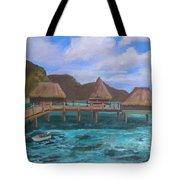 Tiki Hut Vacation Tote Bag