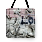 Tiny Pink Butterfly Graffiti Tote Bag