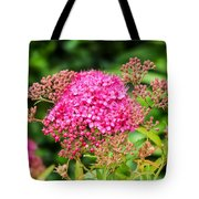 Tiny Pink Spirea Flowers Tote Bag