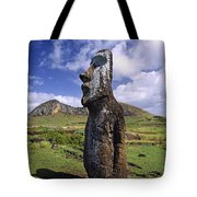 Tongariki Moai On Easter Island Tote Bag