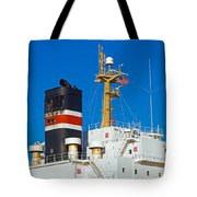 Tramp Steamer Unloading Coal At Port Canaveral In Florida Tote Bag