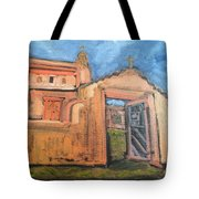 Trampas Church Tote Bag