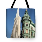 Transamerica Pyramid Building Tote Bag