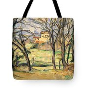 Trees And Houses Near The Jas De Bouffan Tote Bag