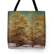 Trees In Oregon Winter Tote Bag