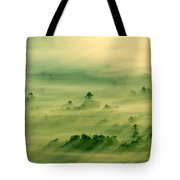 Trees Thru The Mist. Tote Bag