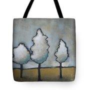 White Trio Tote Bag by Vesna Antic