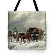 Troika In A Blizzard Tote Bag