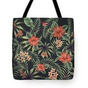 Tropical Leaf Pattern 5 Tote Bag