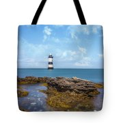 Trwyn Du Lighthouse Tote Bag