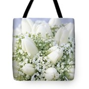 Tulip Tulipa Sp And Babys Breath Tote Bag