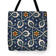Turkish Textile Pattern Tote Bag