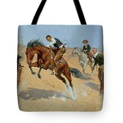 Turn Him Loose Tote Bag by Frederic Remington