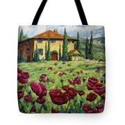 Tuscan Poppies Tote Bag