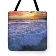 Twilight At Gale Beach In Albufeira Tote Bag