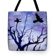 Twilight Flight Tote Bag