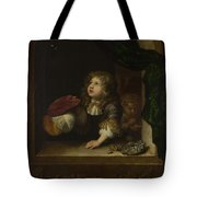 Two Boys Blowing Bubbles Tote Bag