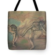Two Dancers Resting Tote Bag by Edgar Degas
