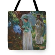 Two Girls With Parasols Tote Bag