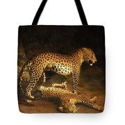 Two Leopards Lying In The Exeter Tote Bag