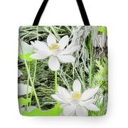 Two Water-lilies Tote Bag