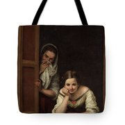 Two Women At A Window Tote Bag
