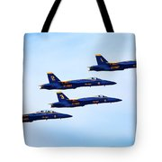 U S Navy Blue Angeles, Formation Flying Tote Bag