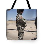 Uh-60 Black Hawk Crew Chief Tote Bag