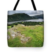 Ullswater Lake From Gowbarrow Fell, Lake District Tote Bag