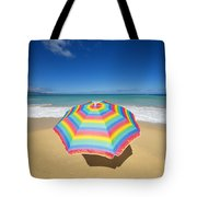Umbrella On Beach Tote Bag