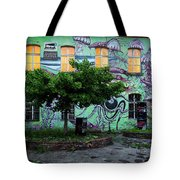 Underwater Graffiti On Studio At Metelkova City Autonomous Cultu Tote Bag