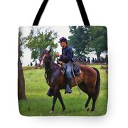 Union Cavalryman Tote Bag