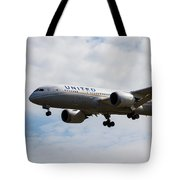 United Airlines Boeing 787 Tote Bag