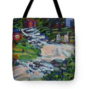 Uphill In Rockport Tote Bag