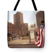 Urban Flag Man Tote Bag