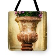 Urn With Purple Flowers Tote Bag