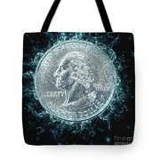 Us One Quarter Dollar Coin 25 Cents Tote Bag
