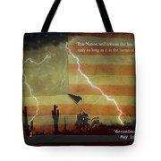 Usa Patriotic Operation Geronimo-e Kia Tote Bag