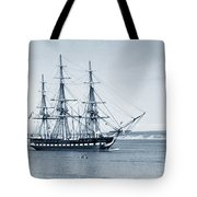 Uss Constitution Old Ironsides In Monterey Bay Oct. 1933 Tote Bag