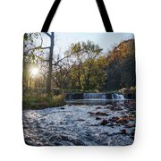 Valley Creek Waterfall - Valley Forge Pa Tote Bag
