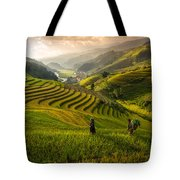 Valley In Sunset Tote Bag